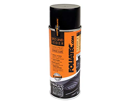 2403 Foliatec Sitz- und Leder Farbspray, schwarz glänzend, 400 ml -
