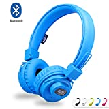 NIA Bluetooth Kopfhörer Kabellos on-Ear Stereo Kopfhoerer mit eingebautem Mikrofon Freisprechen, Wireless Bluetooth Faltbare Headset Leicht Kopfhörer Kompatibel mit iPhone iPad Samsung HTC LG (Blau)