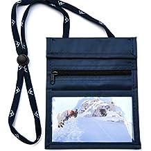sunwallet navy Brustbeutel Brustsafe Brusttasche Umhängetasche Outdoor * blau