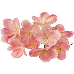 Künstliche Lei-Blumen, hawaiianische Blüten, Latex, für Hochzeitsstrauß, Partys, Feste, 10Stiele rose