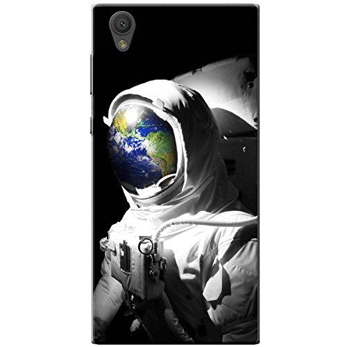 Astronautenanzug & Spiegelbild der Erde Hartschalenhülle Telefonhülle zum Aufstecken für Sony Xperia L1 (G3311)