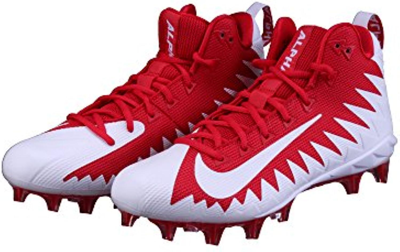 Nike Alpha Menace Pro MID Football Guantes – rojo, rojo, 10