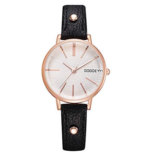 REALIKE Damenuhr Armbanduhren Freizeit Nummer Round Keine Nummer Lederband Quarzuhr Uhren Kreative Uhr Mode Europa Amerika Ultradünn Britische Artart und Weise Neue High End Geschäftsuhr Business