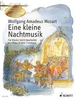 EINE KLEINE NACHTMUSIK G-DUR KV 525 (SERENADE) - arrangiert für Klavier [Noten / Sheetmusic] Komponist: MOZART WOLFGANG AMADEUS aus der Reihe: KLASSISCHE MEISTERWERKE ZUM KENNENLERNEN