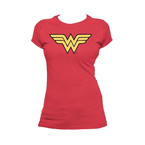 DC Comics Wonder Woman Logo Classic Official Women's T-Shirt (Red) (Small)