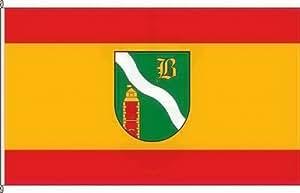 Königsbanner Tischfähnchen Bottenbach - Tischflaggenständer aus Chrom