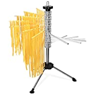 Navaris Collapsible Pasta Drying Rack - Tall Spaghetti Noodle Dryer Stand for up to 2 kgs of Homemade Noodles