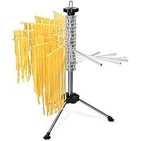 Navaris Secador de Pasta con recetario - Soporte de Acero Inoxidable y plástico para secar Pasta - Secador de tallarines para máx. 2KG