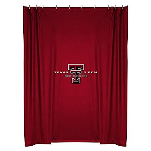 NCAA Texas Tech Red Raiders Shower Curtain by Sports Coverage