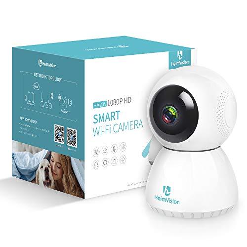 HeimVision 1080P WLAN IP Kamera, Überwachungskamera mit Nachtsicht, Kompatible mit Alexa, 2 Wege Audio, Bewegungserkennung, Haustier Kamera, Baby Monitor mit Cloud Speicher