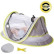 Cama de viaje portátil para bebé, tienda de campaña de playa, protección solar,