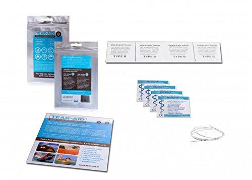 Tear-Aid Reparaturset - Typ B - für Vinyl und PVC Oberflächen, transparent
