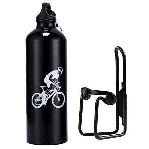 lmeno Tür Kanister + Wasserflasche 750ml Fahrrad Käfig Fahrrad Inhaber Radsport Halterung MTB Fahrradträger + Flasche umweltfreundlich diesem Standard leicht Aluminiumlegierung Nachhaltige couleurs- schwarz/silber/blau/rot schwarz schwarz