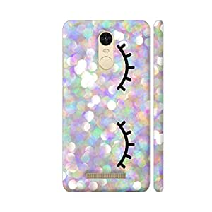 Colorpur Redmi Note 3 Cover - Glittery Eyelashes Printed Back Case
