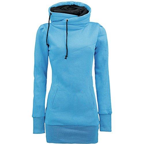Brinny femmes Hoodie sweats à capuche sweatshirt Pour hiver automne Bleu