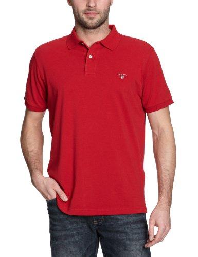 GANT Herren Poloshirt SOLID PIQUE SS RUGGER Rot (RED 610)