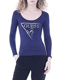Amazon.fr   Guess - T-shirts, tops et chemisiers   Femme   Vêtements 9b0caf760c6