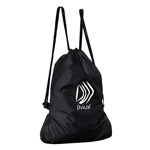 Best string bag in India 2020 DIVULGE Drawstring Bag Sports Bag Gym Bag and Multi Utility Bag (Black) Image 5