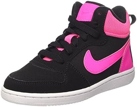 Nike COURT BOROUGH MID (PS) - Baskets Fille, Noir,