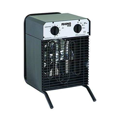 41UB7f 8H0L. SS500  - Rhino H02072 FH3 Fan Heater-110V, 2800 W, 110 V, Black