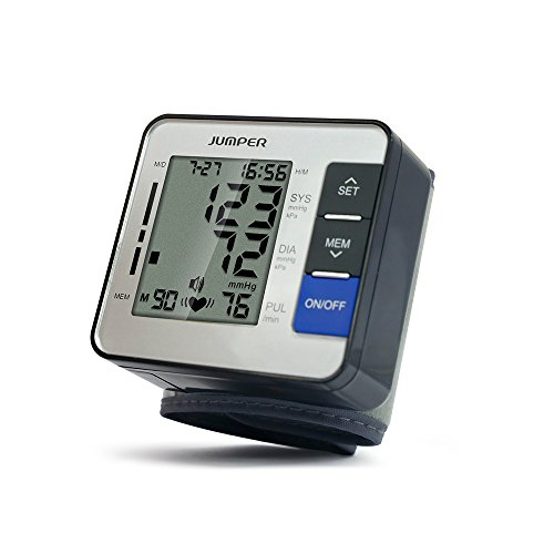 Jumper Handgelenk-Blutdruckmessgerät, Digital Blutdruckmessgerät Monitor für Herzfrequenz und Pulse Detection - Einschließlich Aufbewahrungskoffer und AAA-Batterien