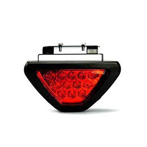 F1 Caisse 12V Universel Rouge Strobe 12 étanche Racing arrière à LED de Frein Feu Stop Lumière Noire Shell