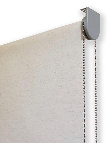Estor enrollable lino PREMIUM METAL (desde 40 hasta 260cm de ancho) translúcido (permite paso de luz / no permite ver el exterior). Color lino crudo. Medida 200cm x 160cm para ventanas y puertas.
