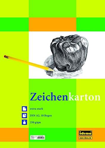 Preisvergleich Produktbild 5 Blöcke Zeichenkarton mit je 10 Blatt / DIN A2 / 250g/m² / Farbe: weiß