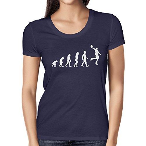 NERDO Basketball Evolution - Damen T-Shirt, Größe S, Navy