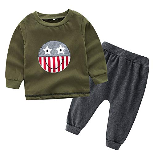 Baby Boy Smile Face Outfit Langarm-Shirt und