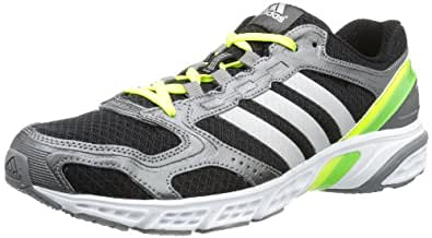 adidas Electrify V220, Chaussures de running homme - Noir (Black 1 / Metallic Silver / Ray Green F13), 40 EU
