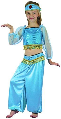 änzerin Kinder-Kostüm türkis-gold 140/152 (10-12 Jahre) (Bauchtänzerin Kostüm Kind)