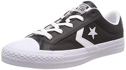 Converse Unisex-Erwachsene Star Player OX Black White Fitnessschuhe Schwarz 083, 41.5 EU