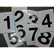 Advanced Printing 8 Black Number Stickers for Show Jumping Markers 1234 5678 150 x 200mm