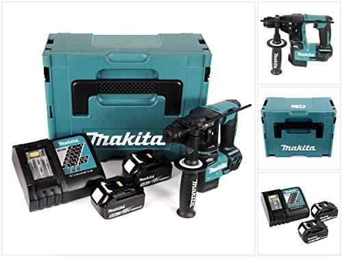Makita DHR 171rtj 18V de 2etapas Brushless Taladro Inalámbrico Con Sds Plus en Makpac + 2x...