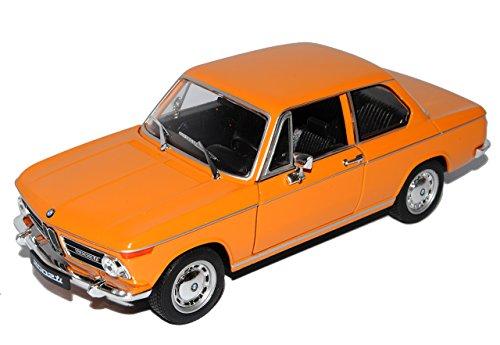 Unbekannt B-M-W 2002ti Coupe Orange 1966-1977 1/24 Welly Modell Auto mit individiuellem Wunschkennzeichen (2002 Bmw Modellauto)