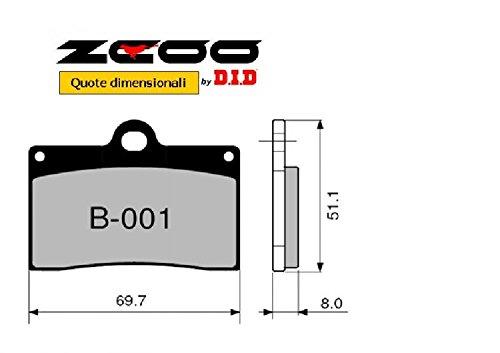 45B00100 PASTIGLIE FRENO ZCOO (B001 EX) DUCATI MONSTER 600 - DARK 1998-1999 (ANTERIORE)