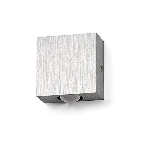 XSWZAQ lámpara de LED de Aluminio Blanco geburstet lámpara de Pared lámpara...