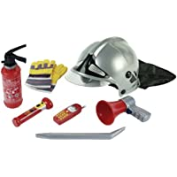 Klein 8928 - Jeu d'imitation - Set de pompier avec casque, 7 pièces