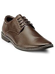 Teakwood Mens Real Genuine Leather Formal Derby Dress Shoes