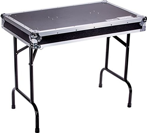 DEEJAY LED TBHTABLE Fly Drive Case Universal Fold Out DJ Table 36-Width x 21-Depth x 30-Inches Height