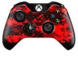Xbox One Controller/Gamepad Skin / Cover / Vinyl Wrap - Red Digital Camouflage Design (Pack of 2 Skins) by Cell Shell