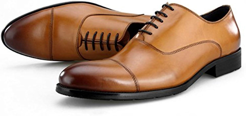 Zapatos Zapatos de Cuero para Hombres Trabajo Formal de Negocios Mocasines Cómodos Zapatos con Cordones Zapatos... -