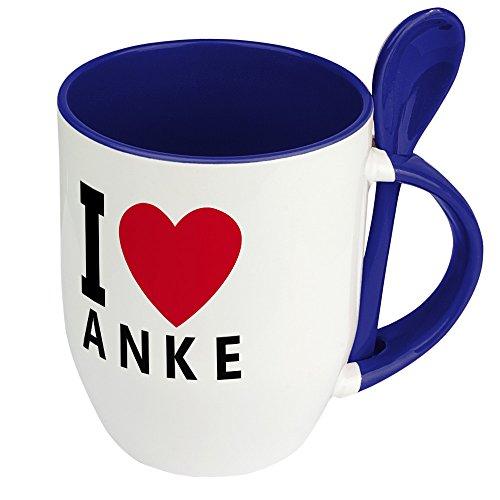 Namenstasse Anke - Löffel-Tasse mit Namens-Motiv