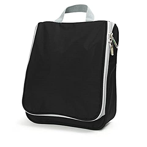 Lavievert Toiletry Bag / Portable Travel Organizer / Household Storage Pack / Bathroom Makeup or Shaving Kit with Hanging for Business, Vacation, Household - Black by