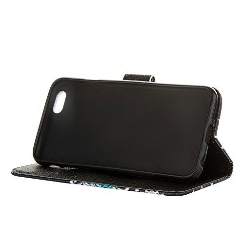 MOONCASE Étui pour Apple iPhone 6 / 6S (4.7 inch) Printing Series Coque en Cuir Portefeuille Housse de Protection à rabat Case Cover LD20 a15