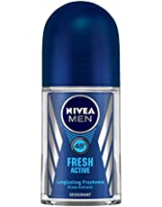 NIVEA MEN Deodorant Roll-on, Fresh Active Original, 50ml