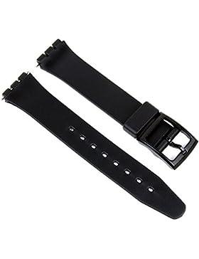Eichmüller Ersatzband Kunststoff Band 17mm für Swatch Uhren schwarz inkl. Erstazstifte