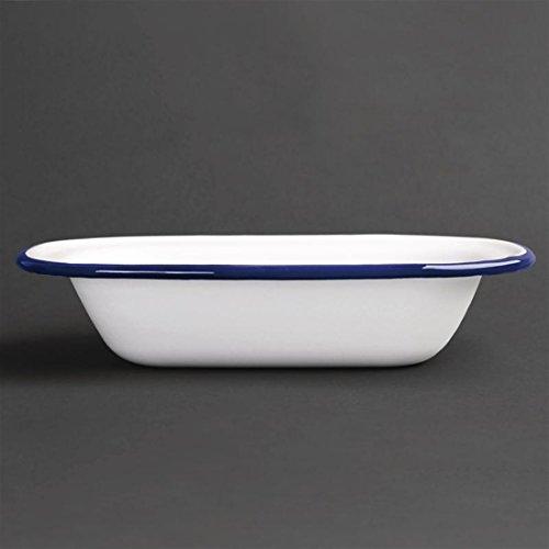 Apportez un look rétro à la présentation de vos plats avec cette gamme de vaisselle en acier émaillé bleu et blanc. Collection élégante et résistante en acier robuste avec un revêtement durable, la gamme émail est lisse et dure et peut prendre que...