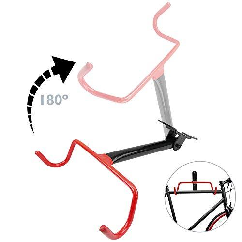 Cablematic - Soporte de pared con gancho plegable para colgar bicicleta